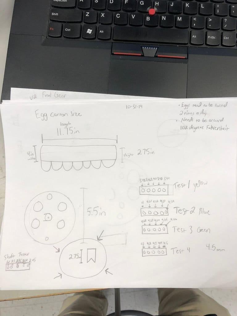 Устройство для автоматического поворачивания лотка в инкубаторе