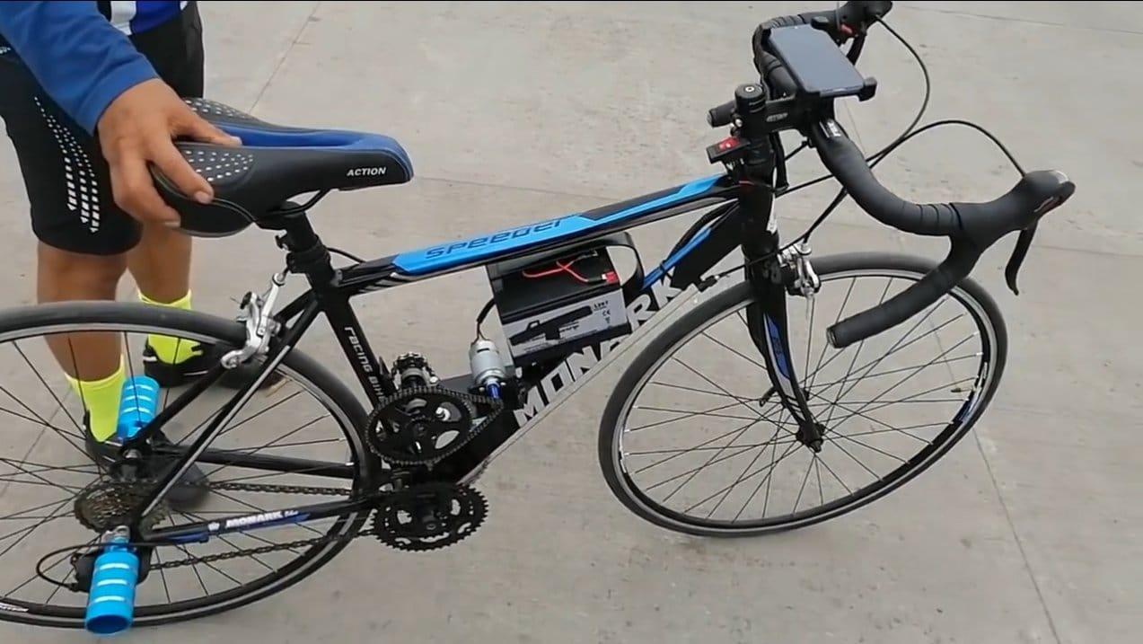 Электровелосипед с моторчиком 775