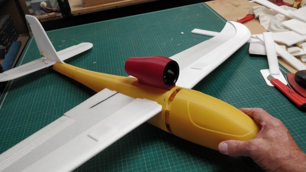 Авиамодель Bubble Jet на 3D принтере