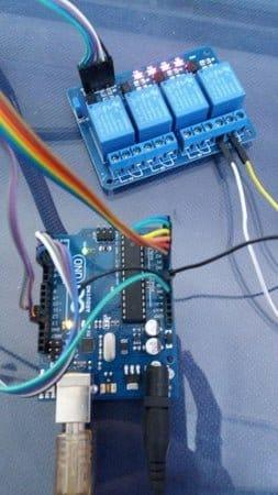 Четырёхканальный кодовый замок для электроприборов